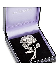 Jon Richard Pave Crystal Rose Brooch