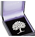 Jon Richard Crystal Tree Brooch