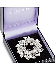 Jon Richard Crystal Wreath Brooch