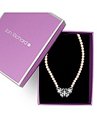 Jon Richard Butterfly Pearl Necklace