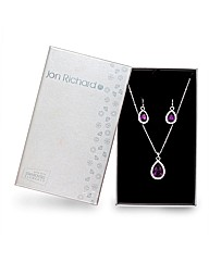 Jon Richard Crystal Jewelery Gift Set