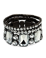 Mood Statement Crystal Stretch Bracelet
