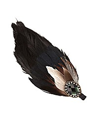 Mood Jewelled Feather Hair Clip