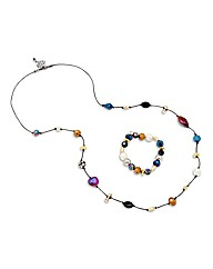 Mood Multicolour Necklace And Bracelet