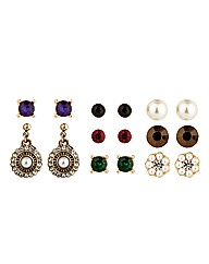 Mood Stud And Pearl Drop Earring Pack