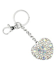Mood Crystal Heart Keyring
