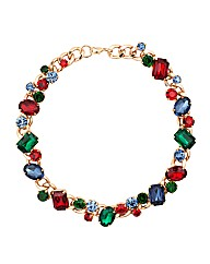 Mood Multicoloured Jewel Chain Necklace
