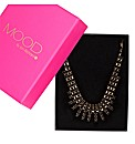 Mood Jet Diamante Stick Necklace