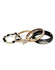 Mood Mixed Patterned Bangle Pack