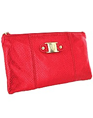 Limited edition leather clutch bag