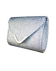 Sparkle Club Silver Glitter Bag