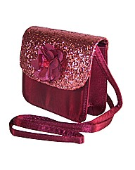 Sparkle Club Dark Pink Satin Bag