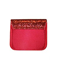 Sparkle Club Red Satin and Glitter Bag