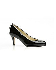 Filby Black Patent Court Shoe