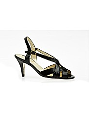 Rushall Black Lizard Sandal