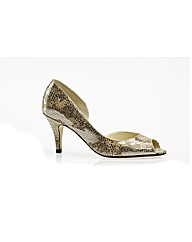 Morston Metallic Snake Print Court Shoe
