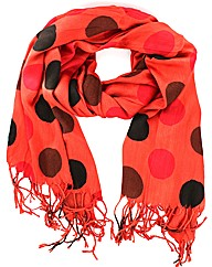 Spotty Tassled Scarf