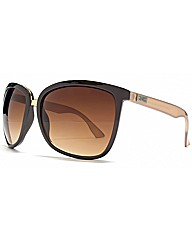 Cerdo Oversize Metal Bridge Sunglasses