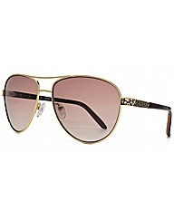 Enamel Temple Aviator Sunglasses