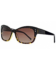 Storm Black Flared Sunglasses
