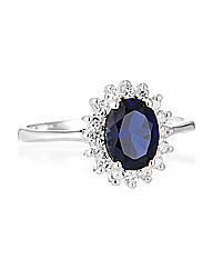 Simply Silver Cubic Zirconia Kate Ring
