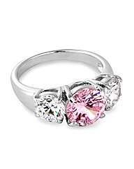 Jon Richard Pink Cubic Zirconia Ring