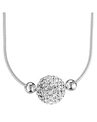 Simply Silver Pave Crystal Ball Necklace