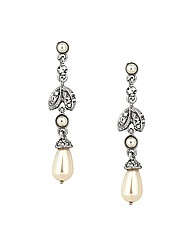 Jon Richard Crystal Leaf Pearl Earring