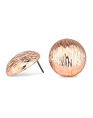 Jon Richard Rose Gold Bouton Earring