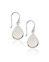 Simply Silver Mother Of Pearl Earrings