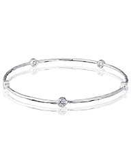 Simply Silver  Cubic Zirconia Bangle