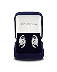 Jon Richard Cubic Zirconia Swirl Earring