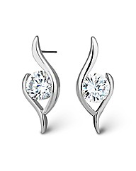 Jon Richard Cubic Zirconia Wave Earring