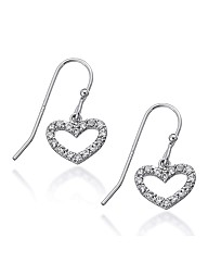 Simply Silver Heart Drop Earring