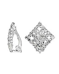 Jon Richard Crystal Clip On Earring
