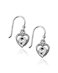 Simply Silver Swirl Heart Drop Earring