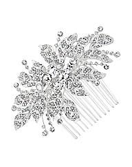 Jon Richard Vintage Crystal Leaf Comb