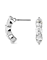 Jon Richard Crystal Half Hoop Earring