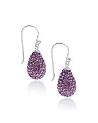 Simply Silver Crystal Teardrop Earring
