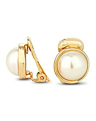 Jon Richard Pearl Clip On Earring