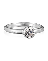 Simply Silver Cubic Zirconia Ring