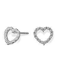Simply Silver Heart Earring