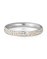 Simply Silver Crystal Pave Eternity Ring