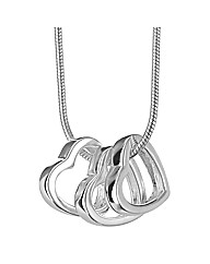 Simply Silver Triple Heart Pendant