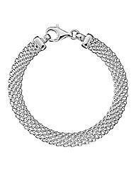 Simply Silver Mesh Bracelet
