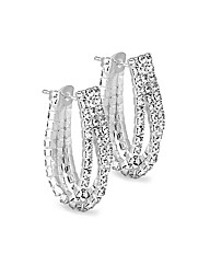 Jon Richard Diamante Hoop Earring