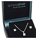 Simply Silver Square Cubic Zirconia Set