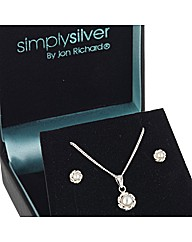 Simply Silver Pearl Twist Set