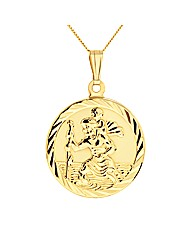 9ct St Christopher pendant