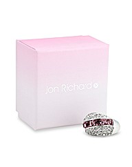 Jon Richard Pink Stripe Crystal Ring